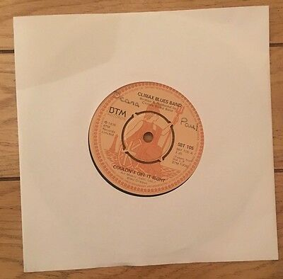 """Climax Blues Band- Couldn't Get It Right- 7"""" Vinyl Record Single"""