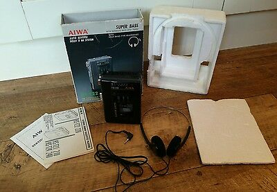 Vintage Aiwa HS-T22 Stereo Personal Cassette Player Walkman Boxed Working