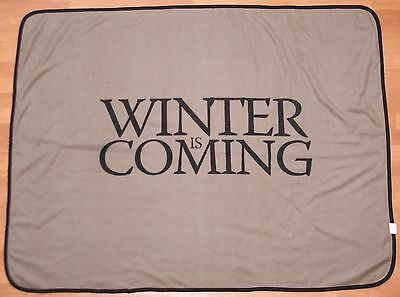 "HBO Game of Thrones Blanket / Throw - Winter is Coming - 59"" Wide x 45"" Tall"