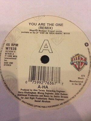"""A-HA - You Are The One (Remix) - Record 7"""" 45 single 1988"""