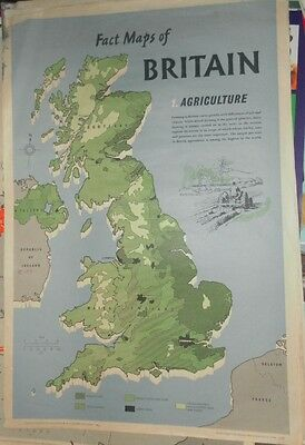 4 Fact Maps Of Britain 1962-