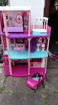 Barbie 3 Story Dream Townhouse Doll House w/ Elevator & Accessories Dolls