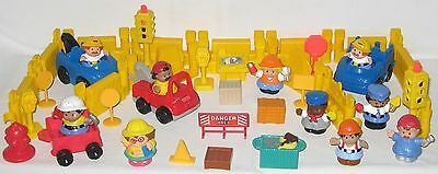 Fisher Price Little People Construction Site Accessories Plus More**43 Piece Lot