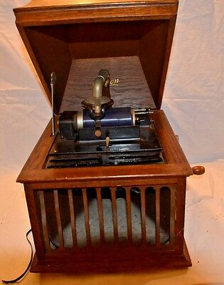 Rare Antique Original Edison Amberola Model X Cylinder Record Player 1913