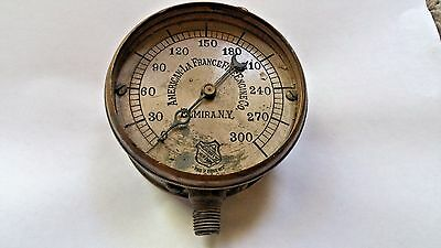 Antique Steam Gauge  **AMERICAN LA FRANCE FIRE ENGINE COMPANY**