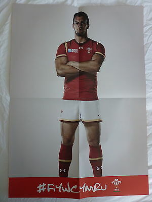 2 x SAM WARBURTON #IAMWALES RUGBY WORLD CUP 2015 OFFICIAL WRU POSTERS A2 SIZED