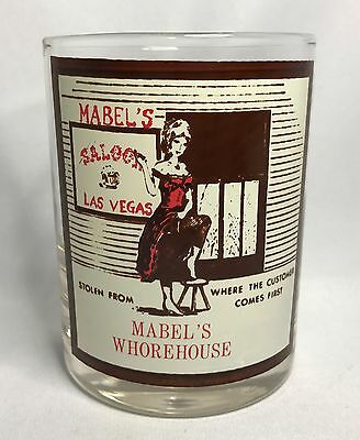 "Rare Mabel's Whorehouse Fabulous Las Vegas ""Stolen From"" Rocks / Lowball Glass"