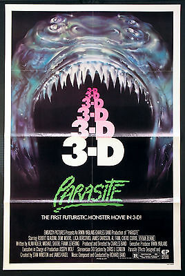 Parasite Futuristic Monster Movie In 3-D 1982 1-Sheet Rolled