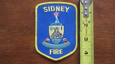 Sidney Fire Rescue Officers Brass Patch British Columbia Bc Canada Canadian
