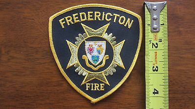 Fredericton Fire Officers Patch Brass New Brunswick Nouveau Nb Canada Canadian