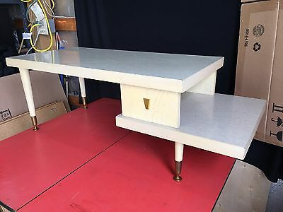 """Vintage Mid Century Modern MCM Two Tier Step Up Blonde End Side Coffee Table """"b"""""""