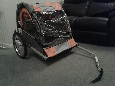 Double Childrens Bike Trailer/Carriage