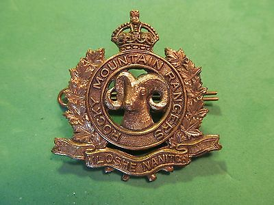 WW2 Canadian The Rocky Mountain Rangers Cap Badge