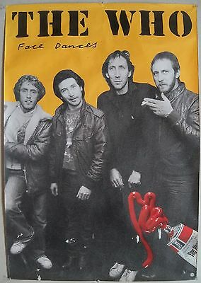 1981 The Who Face Dances Warner Promo Poster Daltrey Townshend Entwistle Jones