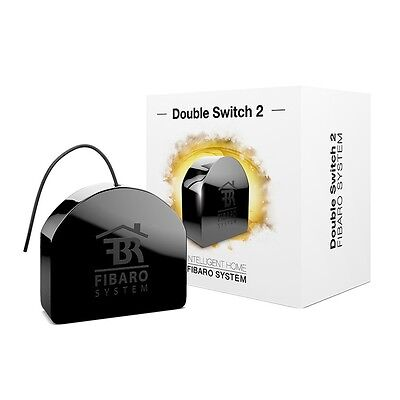 Fibaro Z-Wave+ Double In-Wall Relay Switch, (Double Switch 2)