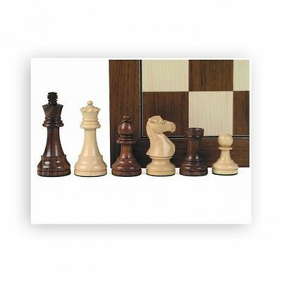 Chess figures - Teak and Boxwood - Kings height 95mm
