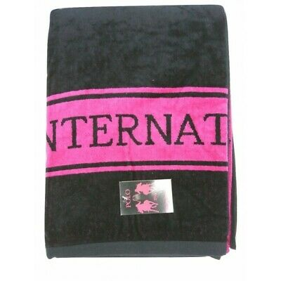 TEXTURAS SUN&SURF - Toalla Playa POLO CLUB FUCSIA-NEGRO 95x175 SINGLE