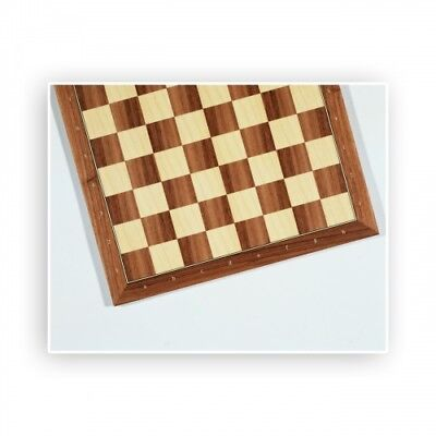 Chessboard - Walnut and Maple - with numbers and letters - Width 46cm - Field