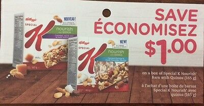 Special K Bars Coupons Canada