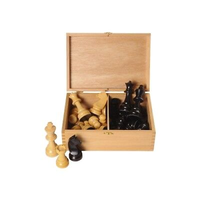 Chessmen Boxwood Black Natural - Kings height 95 mm