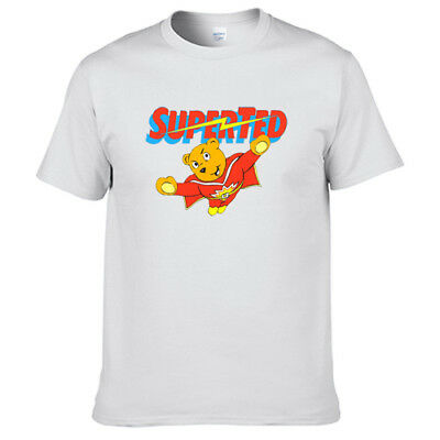 80s Memory Super Ted Cartoon T Shirt Digital Printing 201526