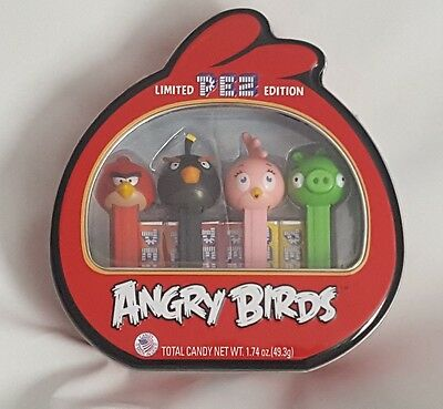 Pez Candy Angry Birds Limited Edition Collectors Gift Set Tin