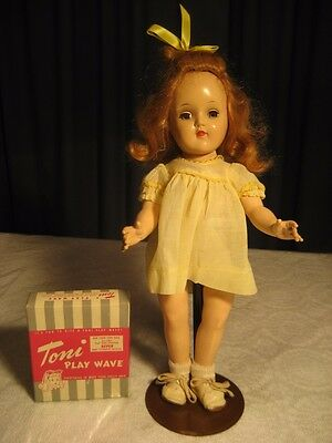 """Vintage Ideal Toni Doll P-90 With Play Wave Solution Kit """"look"""""""