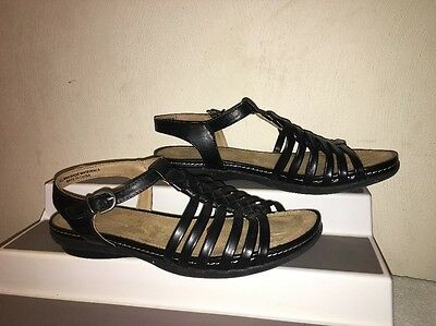 Wear.Ever Womens Black Boho Strappy Sandals Size 7m Pre owned