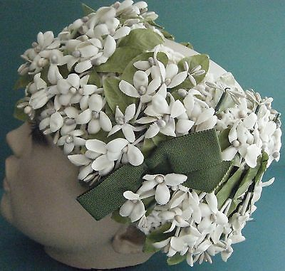 Vintage 40's-50's Tuberrose Flower Crown/hat Bridal