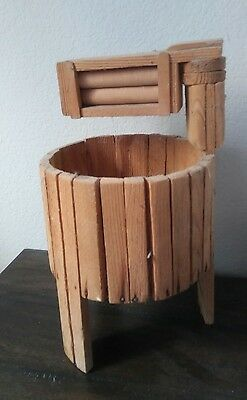 For Craft Project Wood Roller Washing Machine