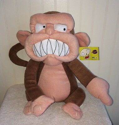 """Evil Monkey Family Guy Stuffed Animal Plush 10"""" Toy Brown Wicked Grin"""