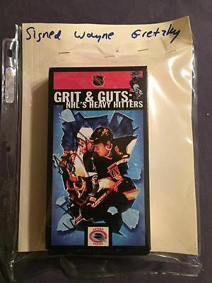 Grit & Guts Vhs Tape Autographed By Wayne Gretzky