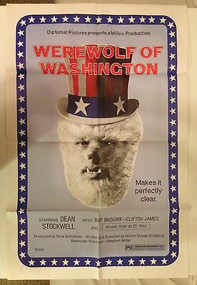 Werewolf Of Washington original theatrical film poster Dean Stockwell grindhouse