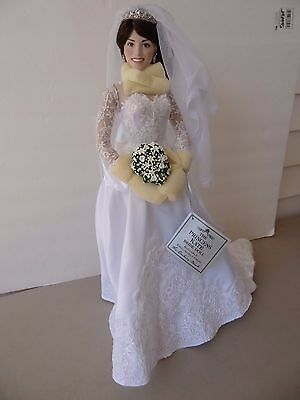 Danbury Mint Princess Kate Middleton Bride Porcelain Wedding Doll, Numbered