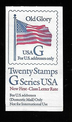 "OddLots:™ US ‡ Scott # BK221, (32¢) ""G–Rate"", First Class, Booklet of 20, Mint"
