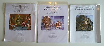 """Lot of 3 """"Heaven and Earth Desing"""" Counted Cross-Stitch Chart Pack - Patterns"""