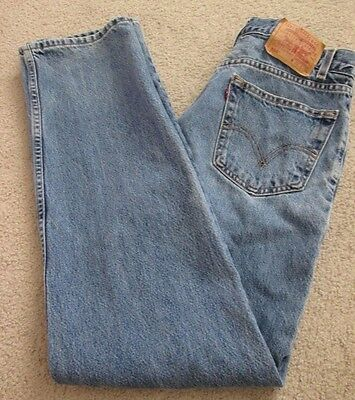 Mens LEVI'S Medium Wash Relaxed Fit Denim Jeans - Size 32x34 (Size on waist tag)