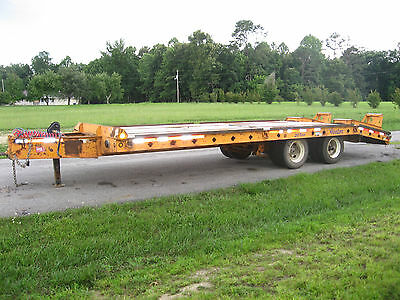 2008 Winston 20 ton pintle hitch Equipment Trailer with air brakes