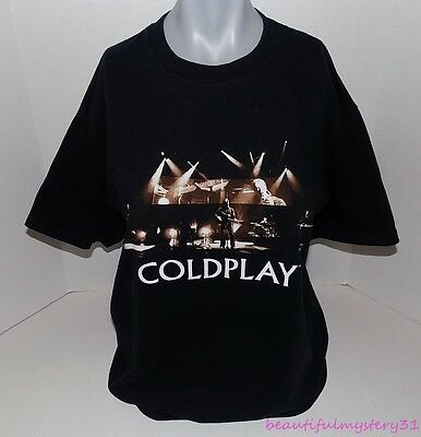 2006 Coldplay Twisted Logic Tour Black Cotton Graphic Band Concert Tee T-Shirt M