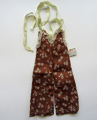 Shirley Temple 1930's Ideal Nra Tagged Brown Playsuit For Composition Doll