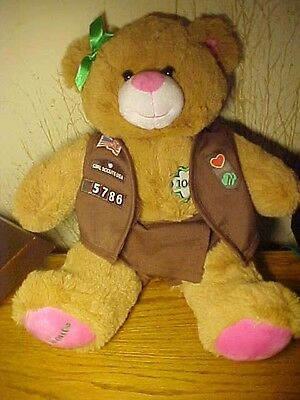 Build-A-Bear Girl Scouts Centennial Bear In Brownie Skort, Vest