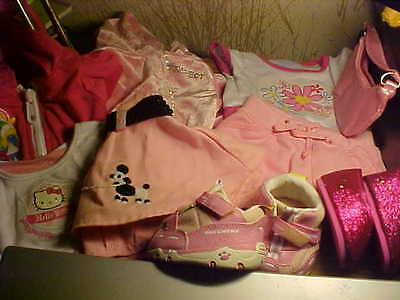 Build-A-Bear Clothes For Girl Bear,  9 Items, Hello Kitty Top, Smurfette Top