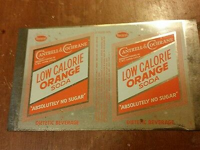 Pre-owned Soda Cans  Flat Top can Sheets Cantrell & Cochrane Orange