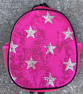 New Girls Glitzy Hot Pink Sequin Backpack