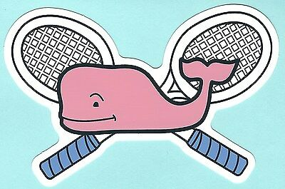 New Authentic Vineyard Vines Tennis Pink Whale Sticker Decal Free Shipping
