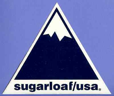 "Authentic Sugarloaf Usa Maine ""old School"" Ski Snowboard Area Sticker Decal"