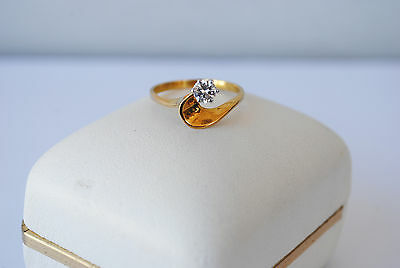 0.25Cts Ladies Solitaire Diamond Ring 18ct Yellow Gold