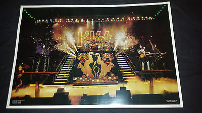 Kiss:alive 2 poster 1977 stage shot excellent condition