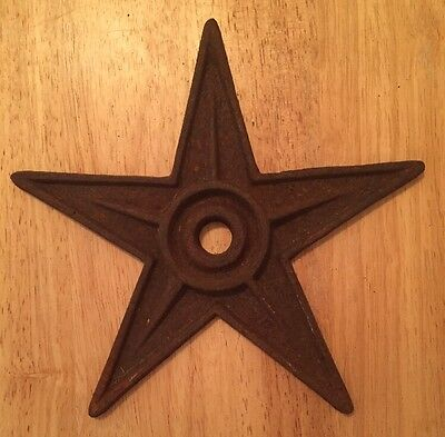 Antique Vintage Cast Iron Building Metal Star Architecture Salvage