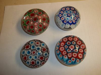 beautiful vintage glass paperweight lot